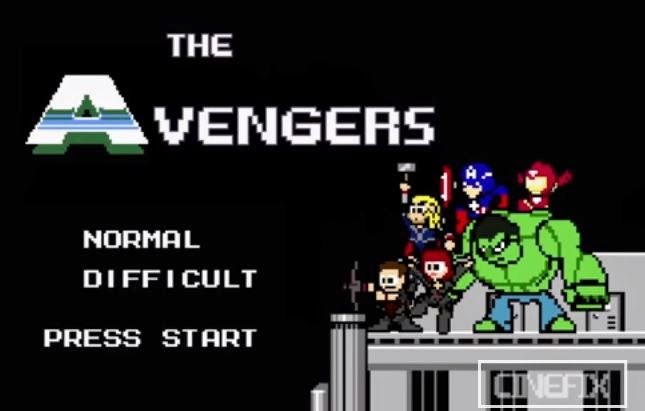 Avengers Vingadores 8 bits