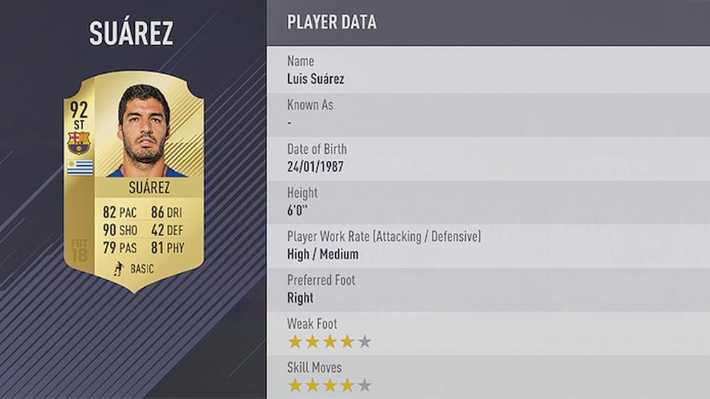 FIFA 18 LUIS SUÁREZ
